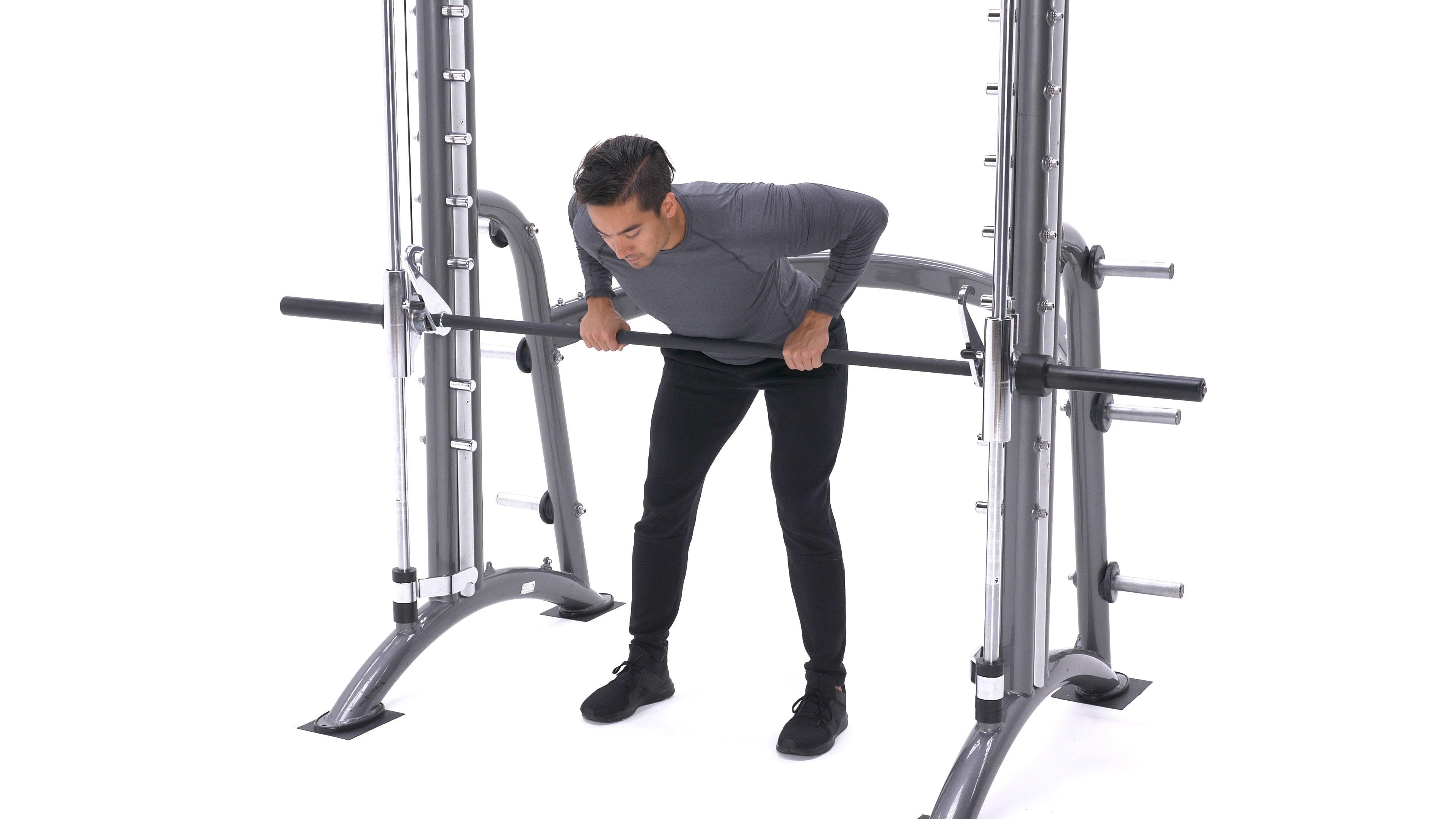 Smith machine bent-over row image