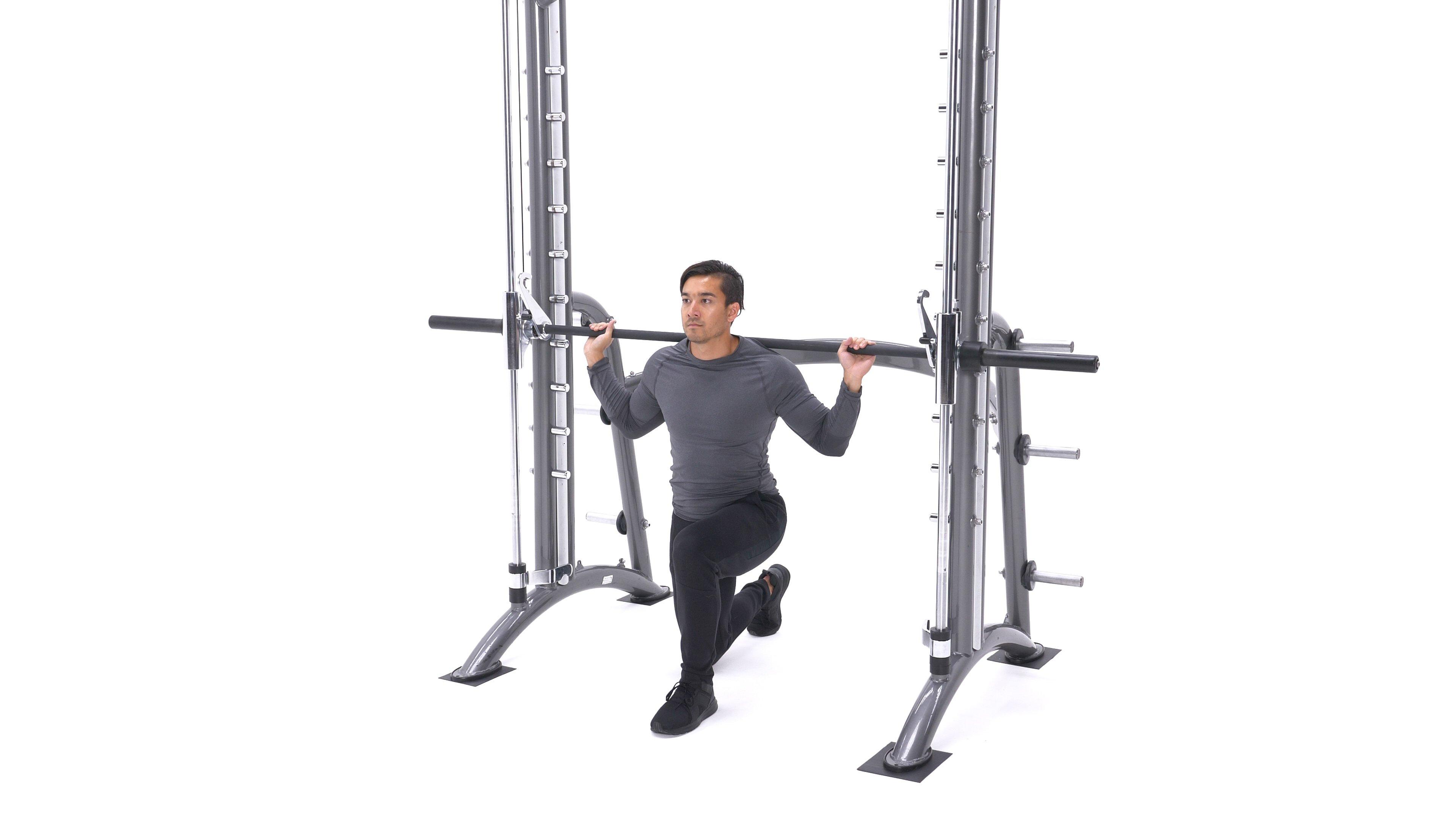 Smith machine lunge sprint image