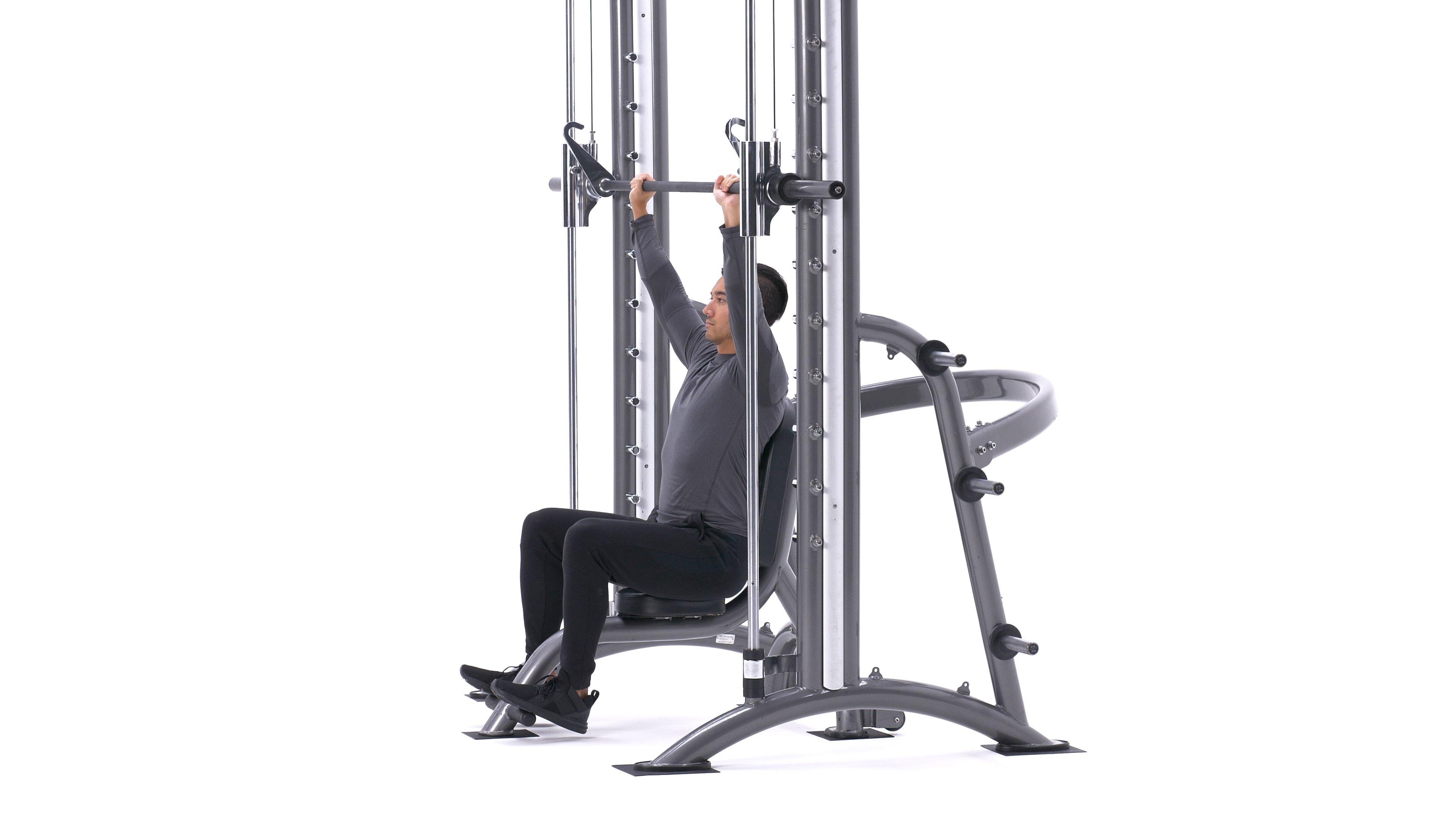 Smith machine shoulder press image