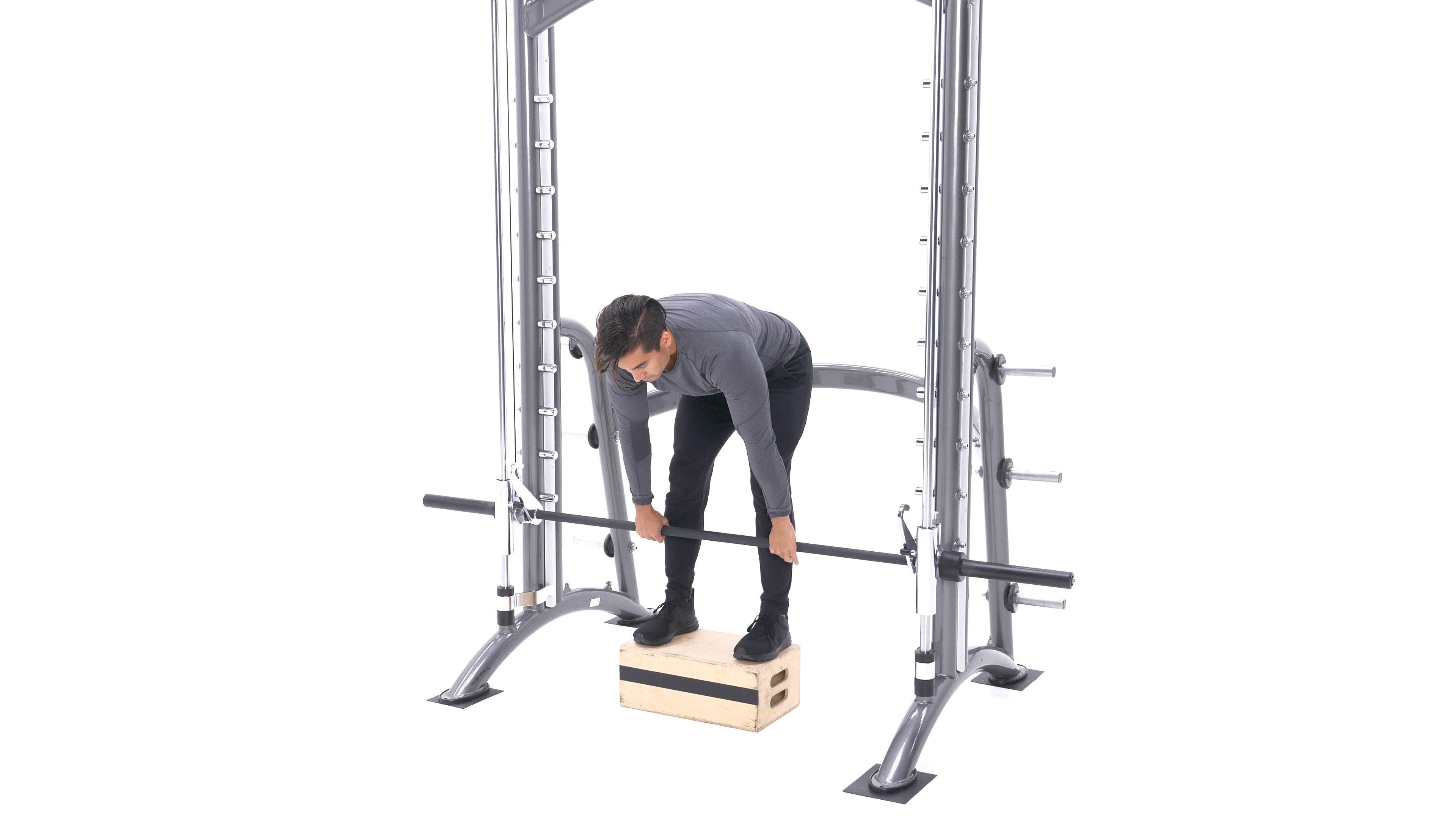 Smith machine stiff-legged deadlift image