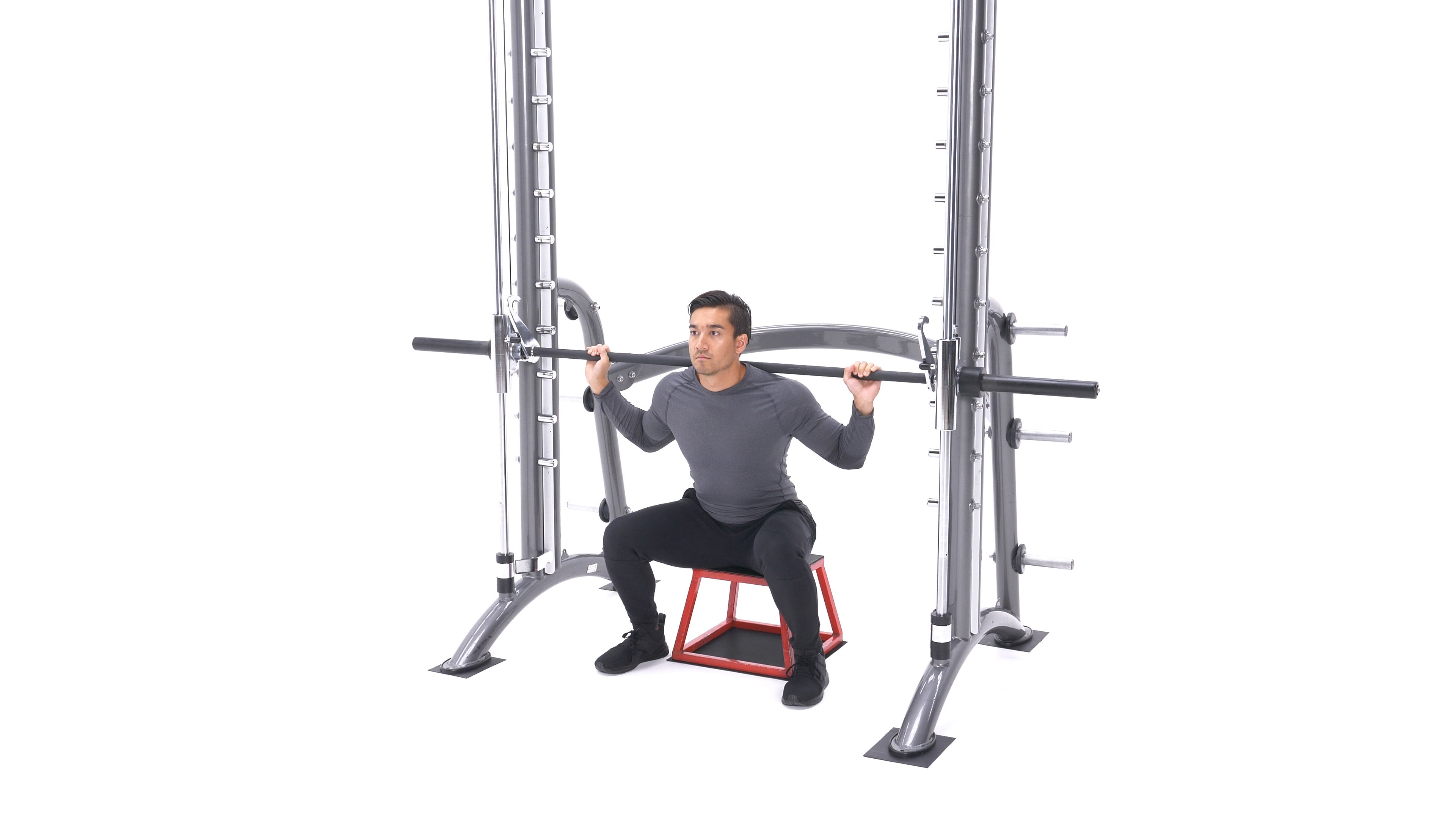 Smith machine box squat image