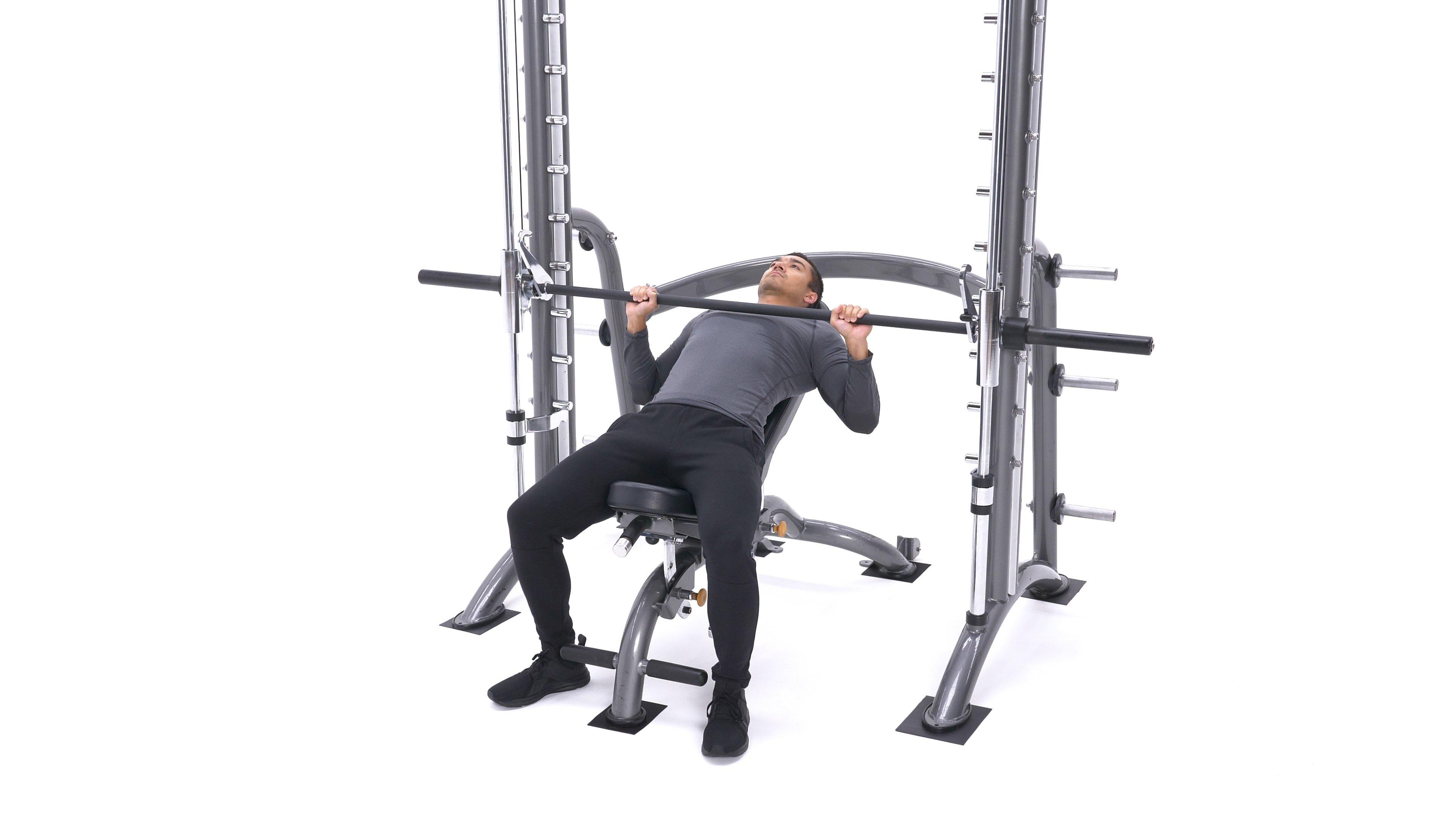 Smith Machine Incline Bench Press image