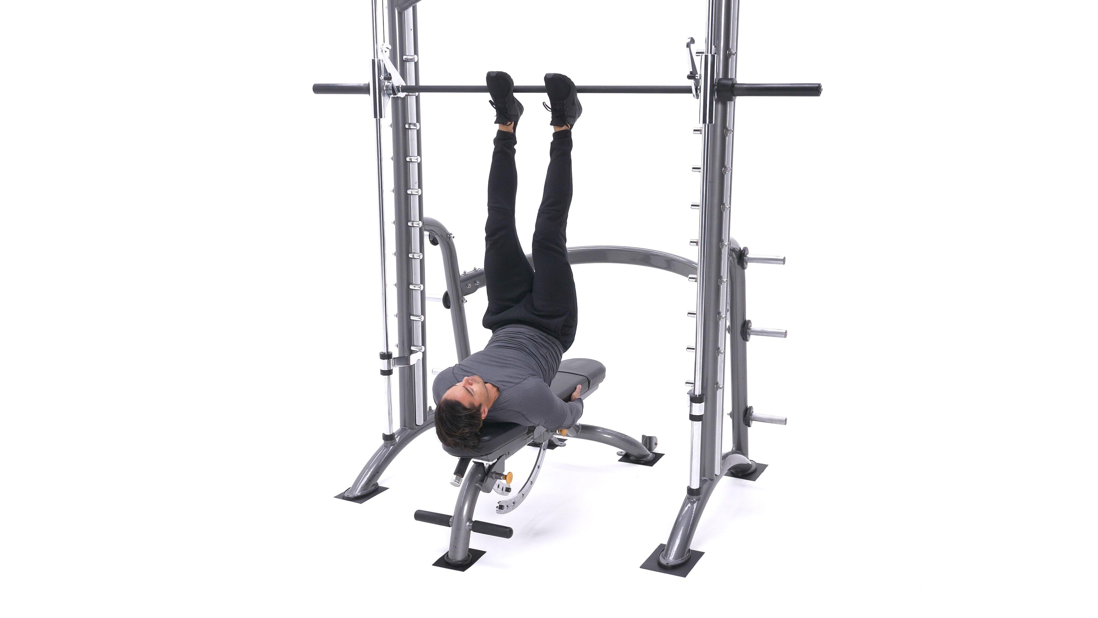 Smith machine straight-legged hip raise image