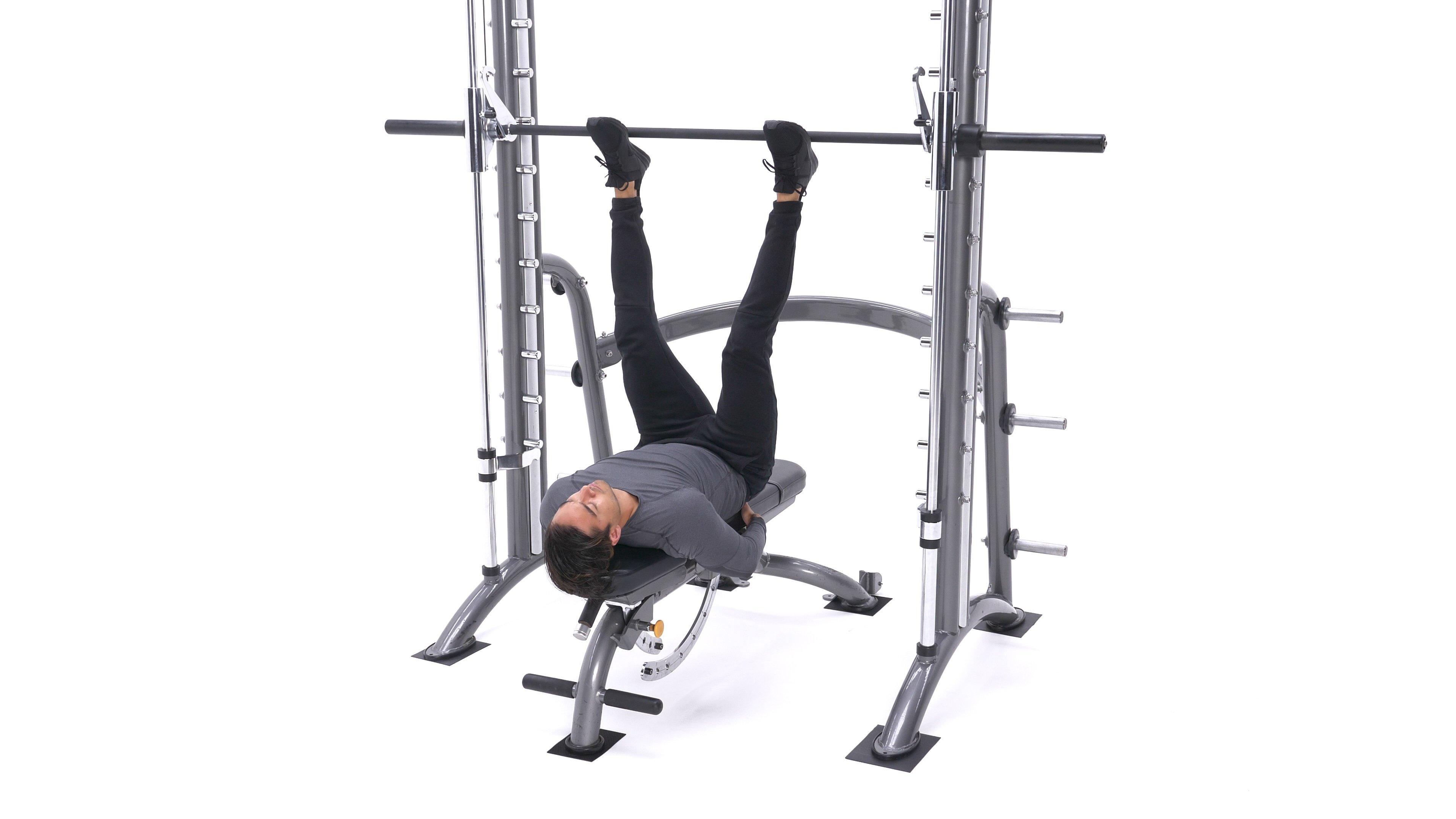 Smith machine leg press image