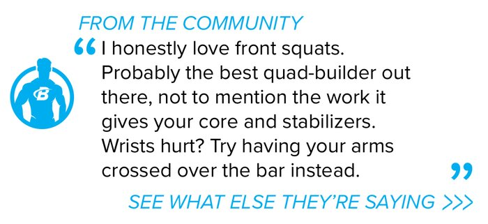 Forum front barbell squat quote