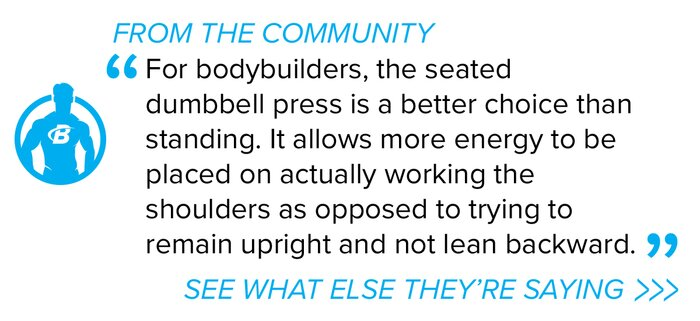 Forum Seated Dumbbell Press quote