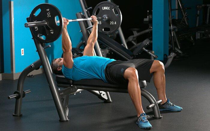 Wide-grip bench press