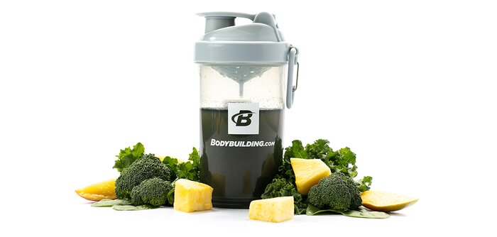 Greens shake with vegetables and fruit
