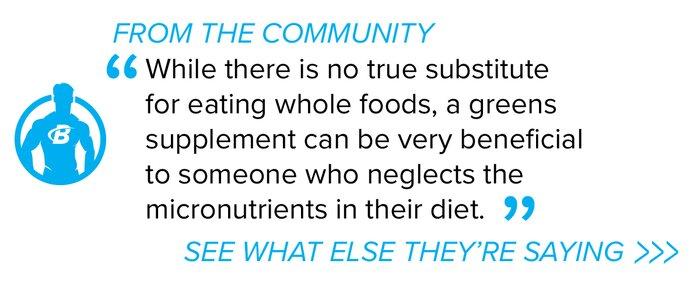 Greens supplements forum quote