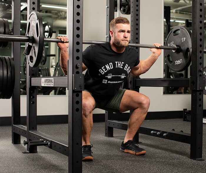 Squats in the rack