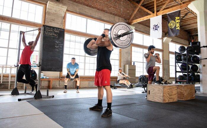 A crossfit gym.
