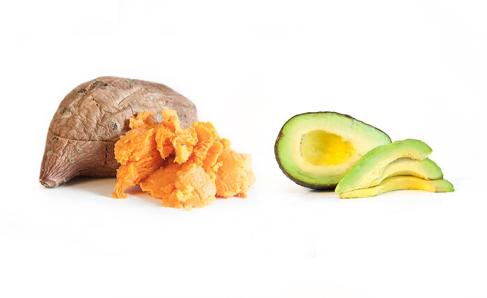 Sweet potato and avocado