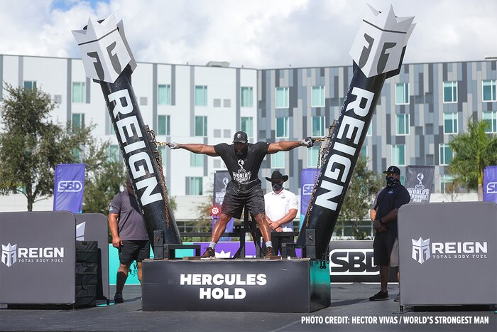 Mark Felix competing in strongman