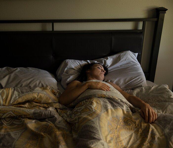 Getting a good nights sleep.