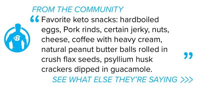 Cita del foro del plan de comidas keto