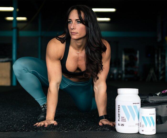 Lauren Sheehan stretching