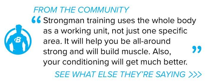 Strongman forum quote