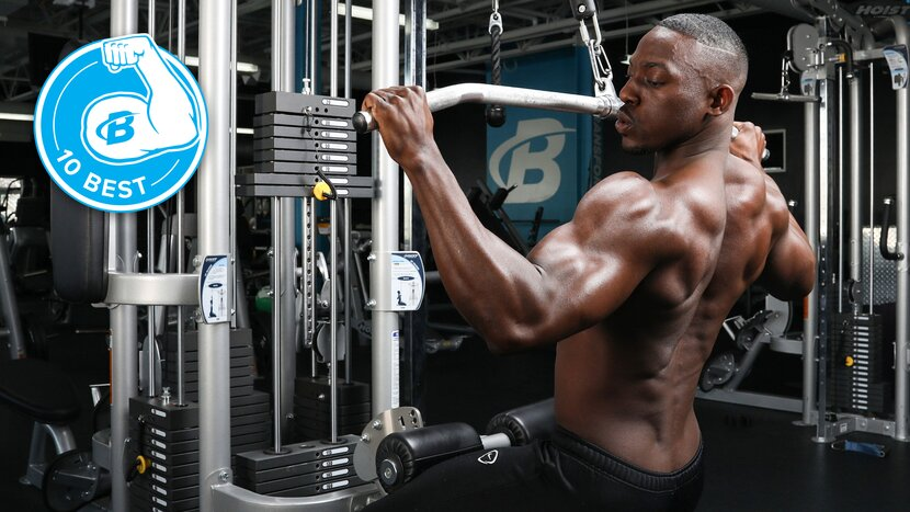 Athlete Performing Pull Downs