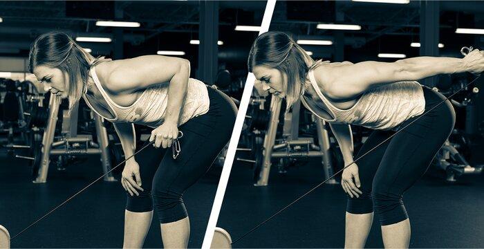 Single-arm triceps kick-back