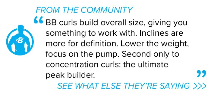 Incline curl community quote