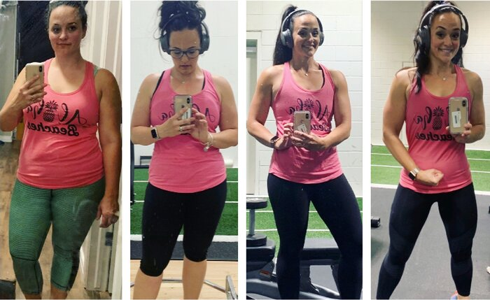 Ashley Moores progress throughout her transformation