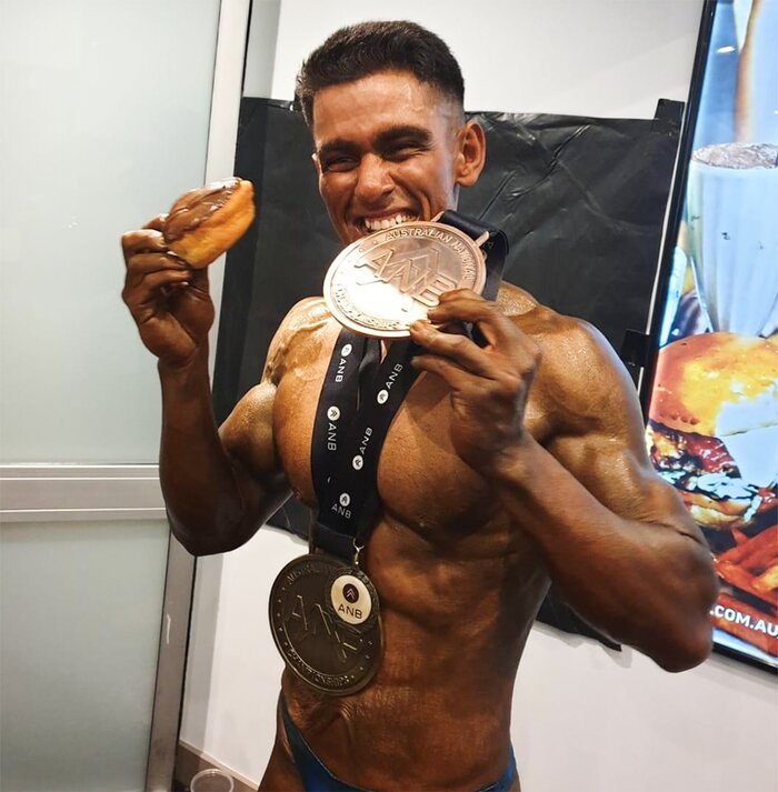 Ajay Sharma with a medal post competition