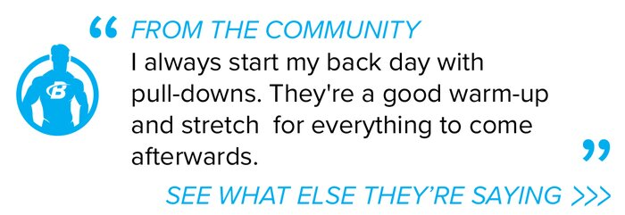 Pull-down community quote