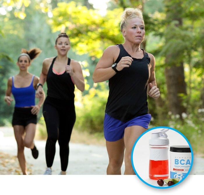 Running outdoors / BCAAs