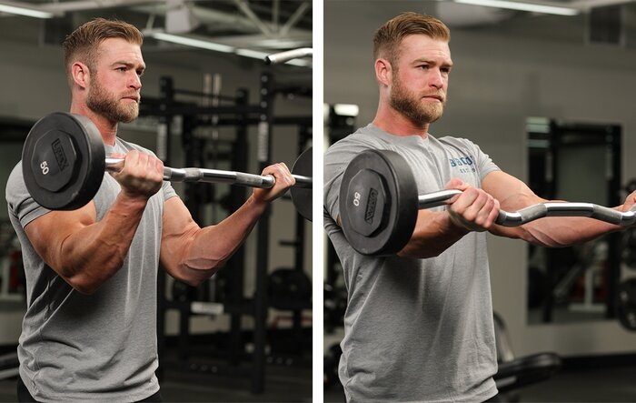 Biceps Curl with Shoulder Flexion on the Negative