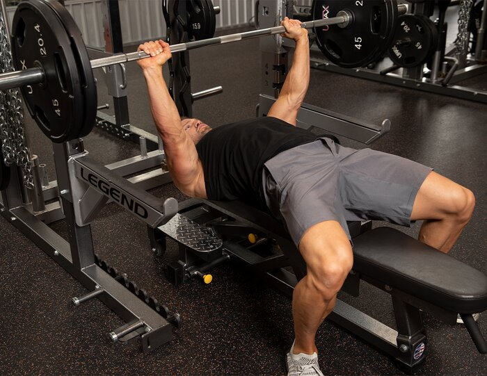 Bench press. chest exercise