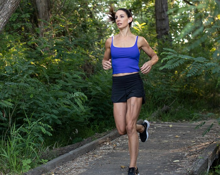 Sprinting/running outdoors