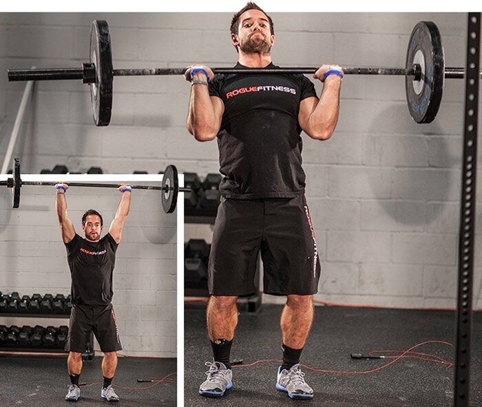 Rich Froning, shoulder-to-overhead press