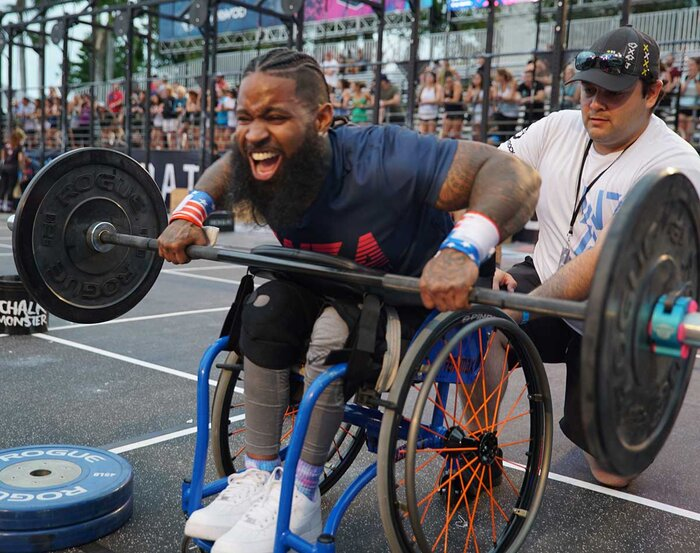 Wes Hamilton competiting in CrossFit