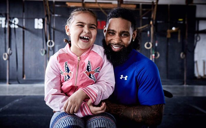 Wes Hamilton with his daughter