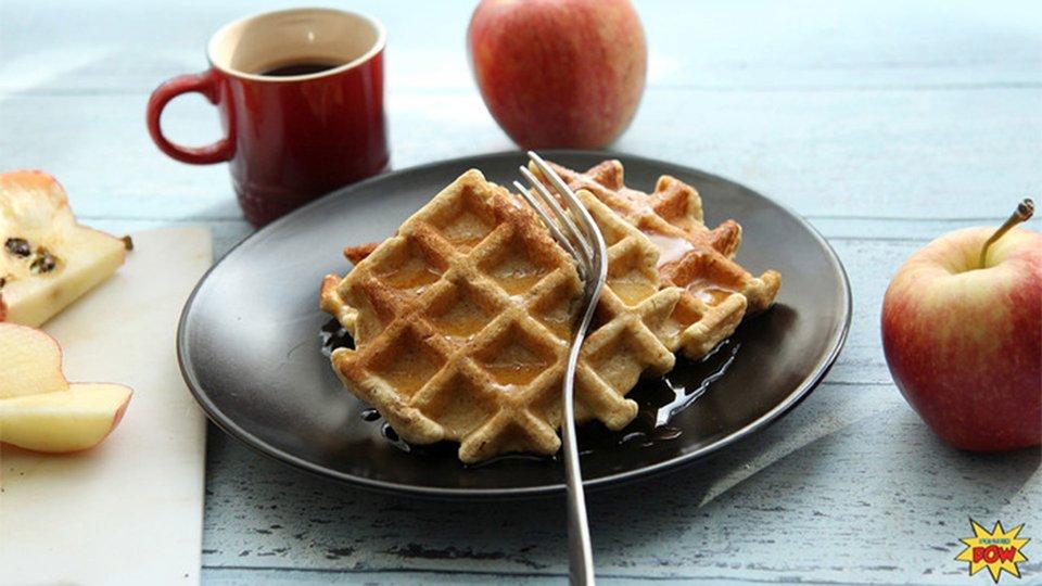 Apple Pie Protein Waffles