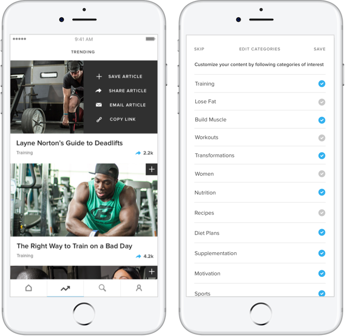 B-Daily Fitness App
