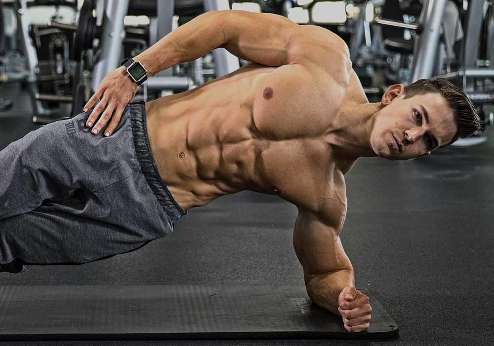 Side Planking Man