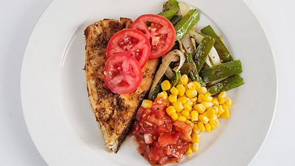 Cajun Halibut With Corn