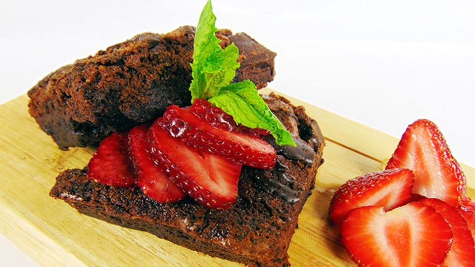 Chocolate Avocado Protein Brownies