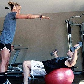 Exercise Ball Crunch