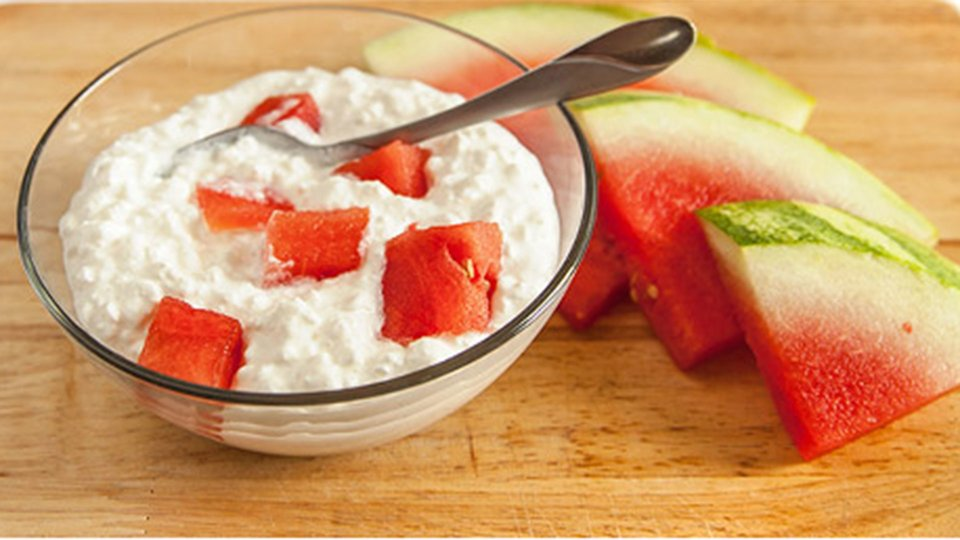 Cottage Cheese And Watermelon