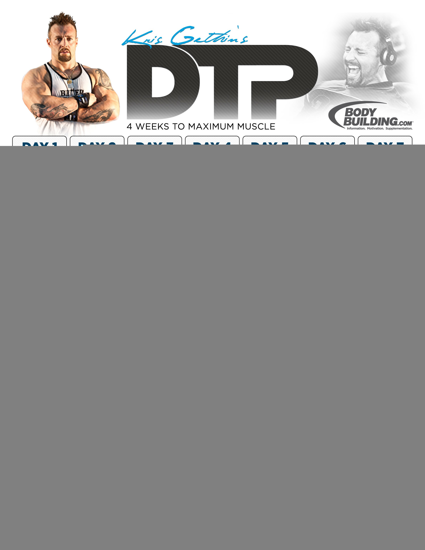 Kris Gethin s DTP  4 Weeks To Maximum MuscleBodybuilding Exercises For Men