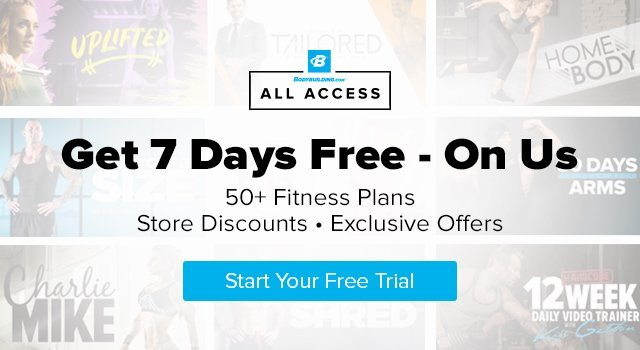 All Access - Get 7 Days Free - On Us - 50% Fitness Plans - Store Discounts - Exclusive Offers - Start your free trial