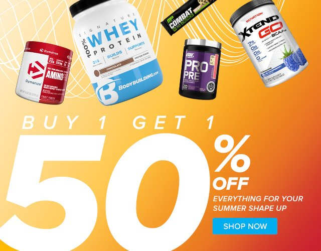 BOGO 50% Off Top Summer Supps.