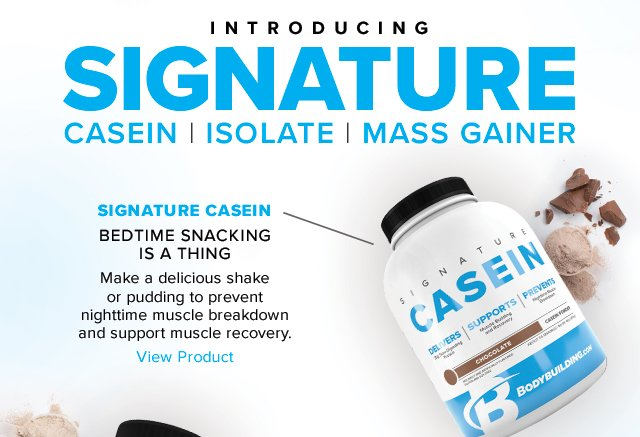 Introducing Bodybuilding.com Casein - Shop Now.