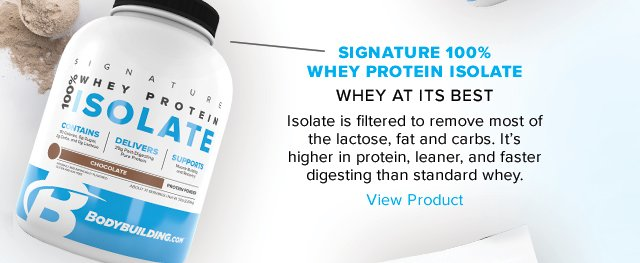 Introducing Bodybuilding.com Isolate- Shop Now.