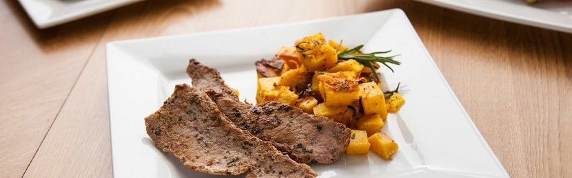 FreakMode Recipes: Veal Cutlets And Roasted Squash