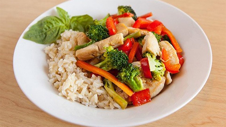 Ginger Basil Chicken And Rice