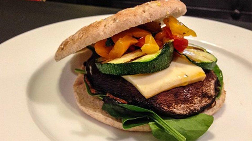 Grilled Portobella And Zucchini Burger