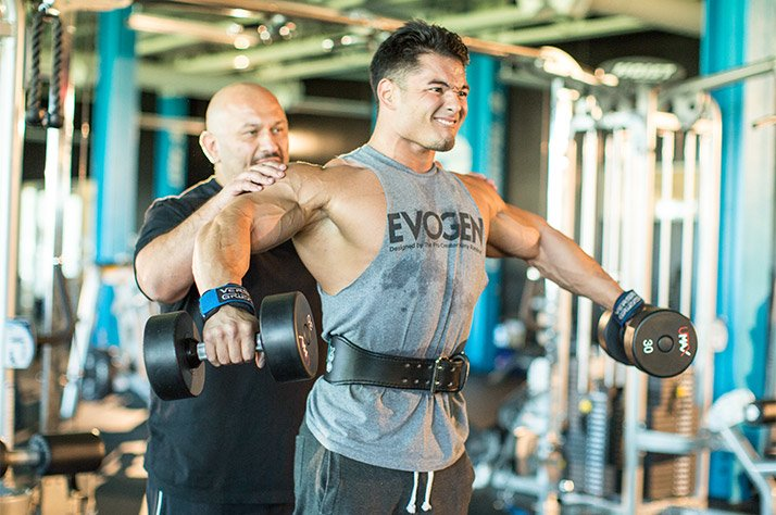 Hany Rambod And Jeremy Buendia's FST-7 Shoulders And